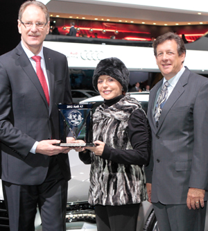Johan de Nysschen, president of Audi of America Accepts award for 2012 International Car of the Year