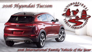 2016 Hyundai Tucson CUV Wins 2016 International Family Vehicle of the Year - Presented by Road & Travel Magazine's 20th Anniversary of International Car of the Year Awards