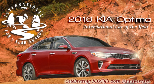 2016 Kia Optima Named 2016 and 20th Annivesary International Car of the Year by Road & Travel Magazine