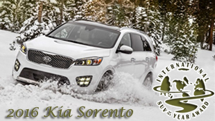 2016 Kia Sorento Drives Home with 2016 International SUV of the Year Award on ICOTY's 20th Anniversary - Presented by Road & Travel Magazine