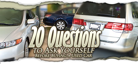 20 questions you should ask when buying a used car road travel magazine. Black Bedroom Furniture Sets. Home Design Ideas