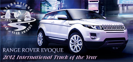 2012 Range Rover Evoque Wins 2012 International Car of the Year from Road & Travel Magazine