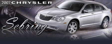 2007 chrysler sebring sedan new car review by bob plunkett. Black Bedroom Furniture Sets. Home Design Ideas